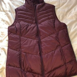 Maroon/burgundy colored women's vest